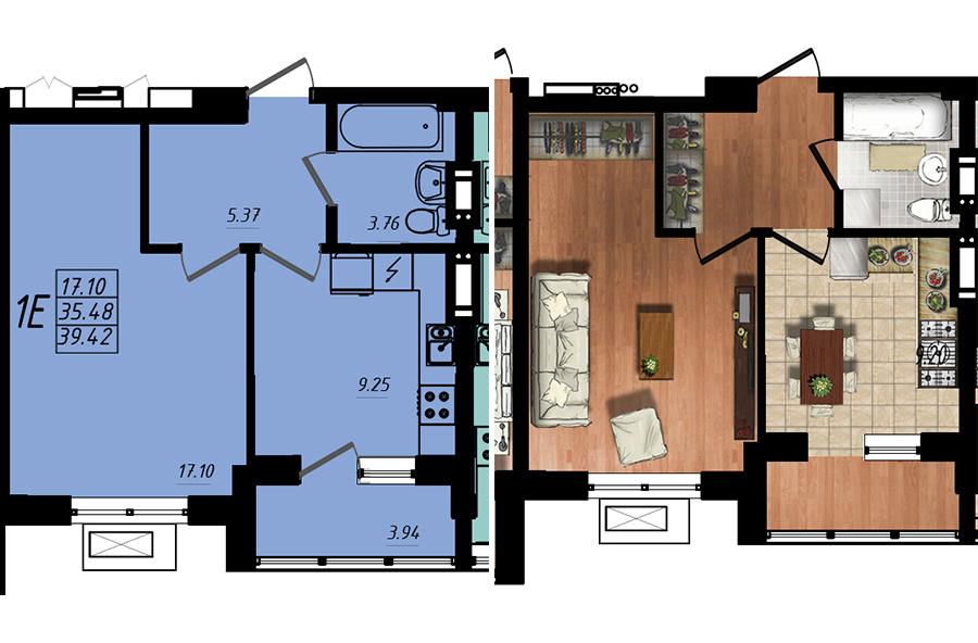 Продается 1-комнатная квартира на ул. Жм Дружный — 23 650 у.е. (фото №5)