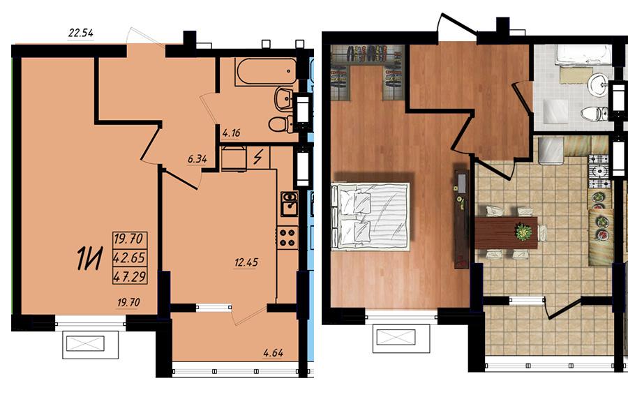 Продается 1-комнатная квартира на ул. Массив 10 — 30 730 у.е. (фото №5)