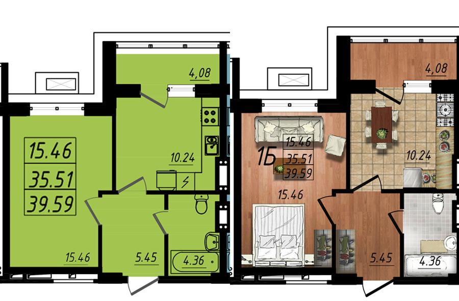 Продается 1-комнатная квартира на ул. Жм Дружный — 24 100 у.е. (фото №5)