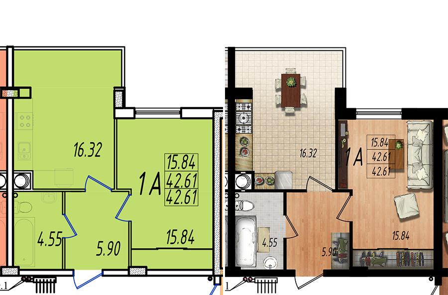Продается 1-комнатная квартира на ул. Жм Дружный — 25 780 у.е. (фото №5)