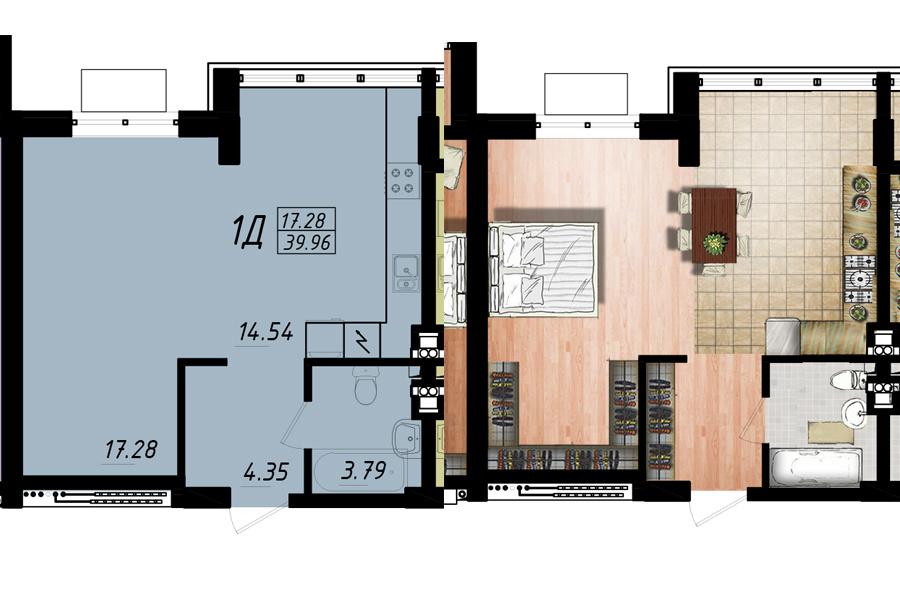 Продается 1-комнатная Квартира на ул. Жм Дружный — 22 680 у.е. (фото №3)