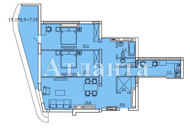 Продается 2-комнатная квартира на ул. Удельный Пер. (Тельмана Пер.) — 115 240 у.е. (фото №2)