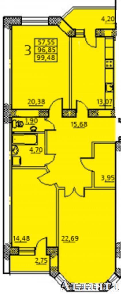 Продается 3-комнатная квартира на ул. Заболотного Ак. — 71 000 у.е.