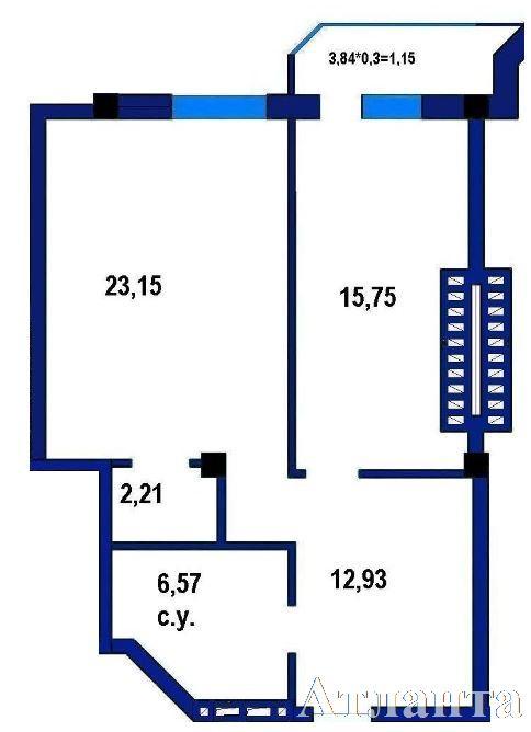Продается 1-комнатная Квартира на ул. Софиевская (Короленко) — 55 960 у.е. (фото №2)