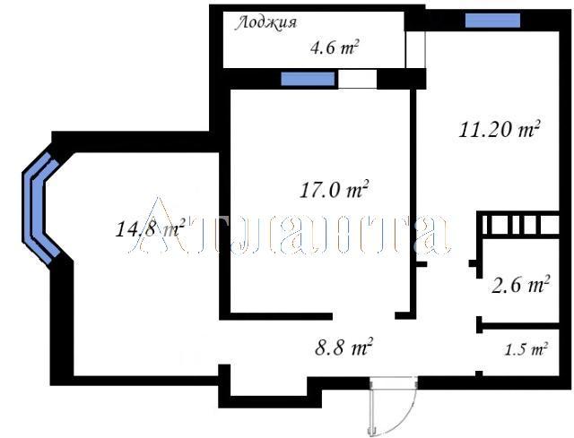 Продается 2-комнатная квартира на ул. Бочарова Ген. — 33 280 у.е. (фото №3)