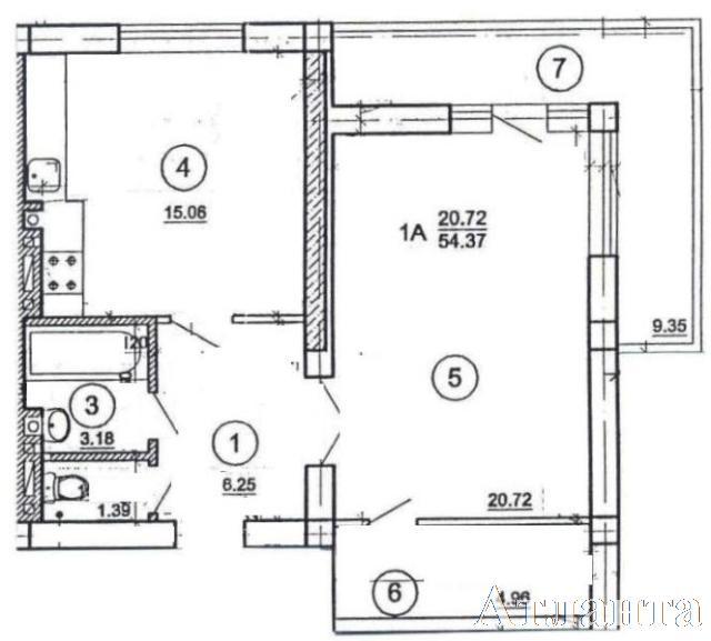 Продается 1-комнатная квартира на ул. Цветаева Ген. — 37 720 у.е.