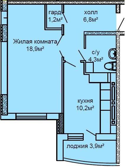 Продается 1-комнатная квартира на ул. Костанди — 41 000 у.е.