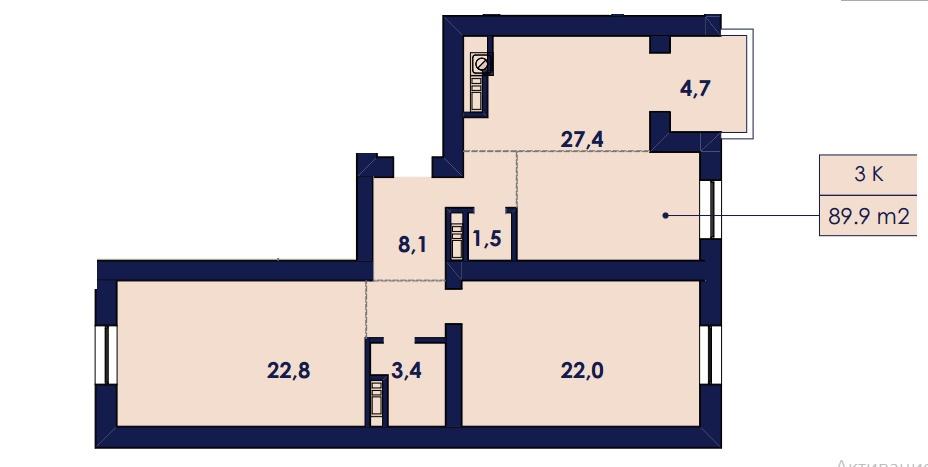 Продается 3-комнатная квартира на ул. Чехова — 49 300 у.е. (фото №3)