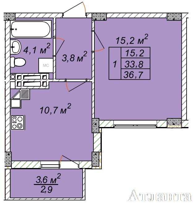 Продается 1-комнатная квартира на ул. Святослава Рихтера (Щорса) — 23 000 у.е.