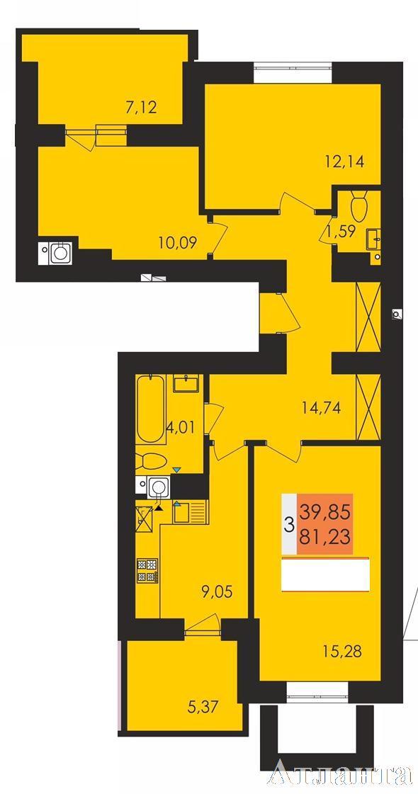 Продается 3-комнатная квартира на ул. Чехова — 48 700 у.е.