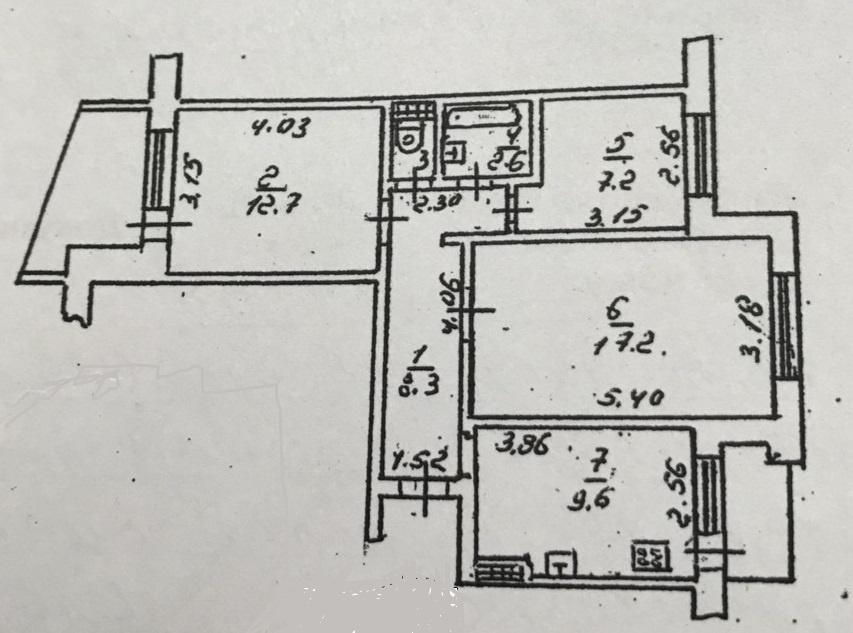 Продается 3-комнатная Квартира на ул. Героев Cталинграда — 34 500 у.е. (фото №9)
