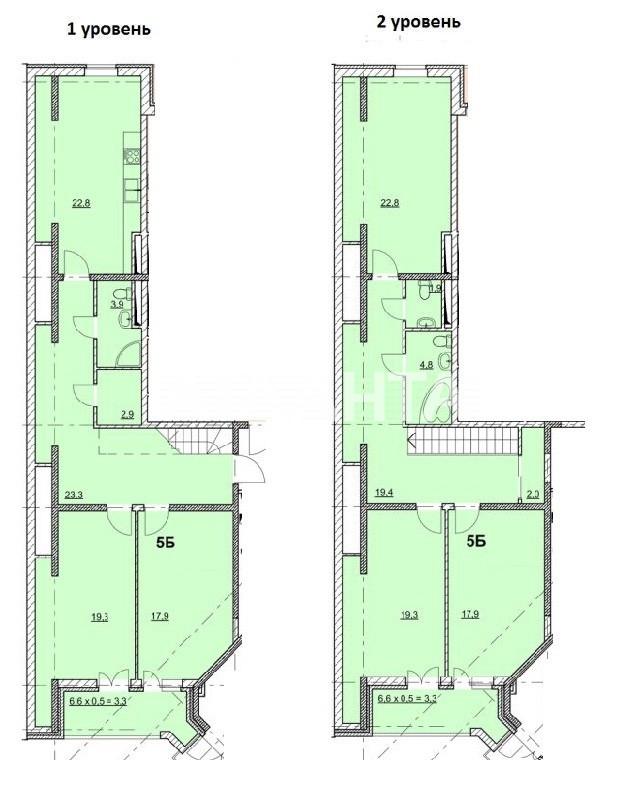 Продается Многоуровневая Квартира на ул. Гагаринское Плато — 121 500 у.е. (фото №3)