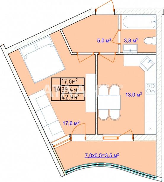 Продается 1-комнатная Квартира на ул. Фонтанская Дор. (Перекопской Дивизии) — 32 600 у.е. (фото №3)