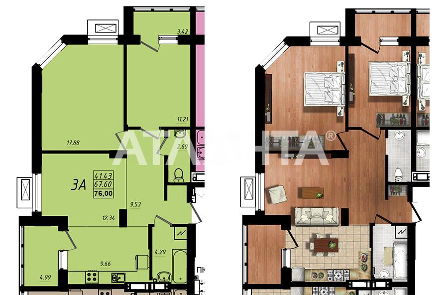 Продается 3-комнатная Квартира на ул. Строителей — 45 600 у.е. (фото №2)