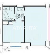Продается 1-комнатная Квартира на ул. Французский Бул. (Пролетарский Бул.) — 52 000 у.е. (фото №13)