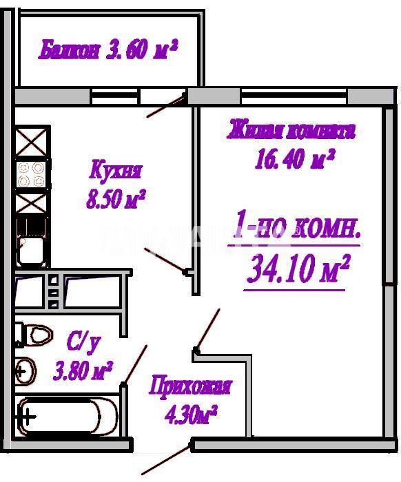 Продается 1-комнатная Квартира на ул. Сахарова — 28 390 у.е. (фото №3)