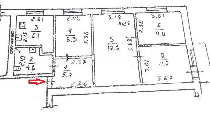Продается 3-комнатная Квартира на ул. Малиновского Марш. — 46 000 у.е. (фото №2)