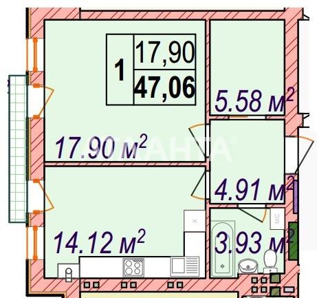 Продается 1-комнатная Квартира на ул. Майский Пер. — 70 120 у.е. (фото №4)