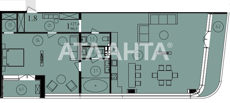 Продается 3-комнатная Квартира на ул. Французский Бул. (Пролетарский Бул.) — 168 810 у.е. (фото №4)