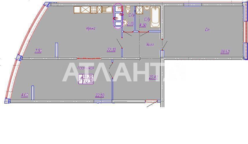 Продается 2-комнатная Квартира на ул. Аркадиевский Пер. — 135 960 у.е. (фото №2)