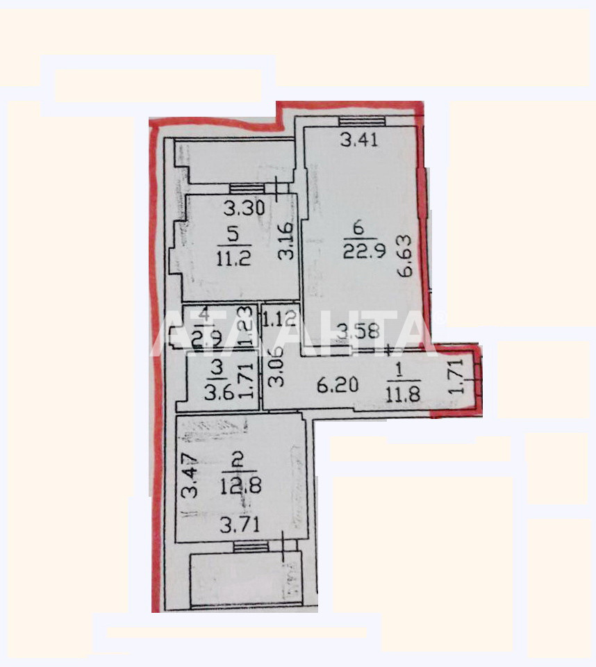 Продается 2-комнатная Квартира на ул. Радужный М-Н — 54 700 у.е. (фото №7)