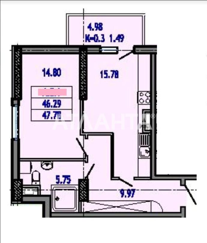 Продается 1-комнатная Квартира на ул. Тополинный Пер. — 40 613 у.е. (фото №6)