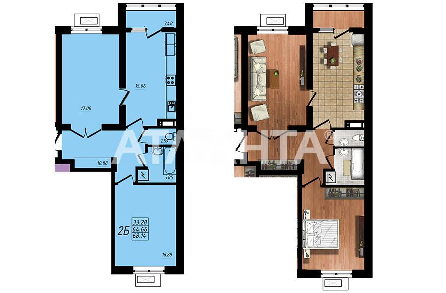 Продается 2-комнатная Квартира на ул. Строителей — 39 900 у.е. (фото №2)