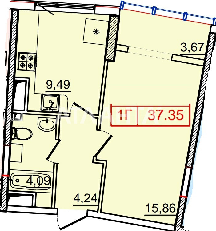 Продается 1-комнатная Квартира на ул. Генуэзская — 44 000 у.е. (фото №4)