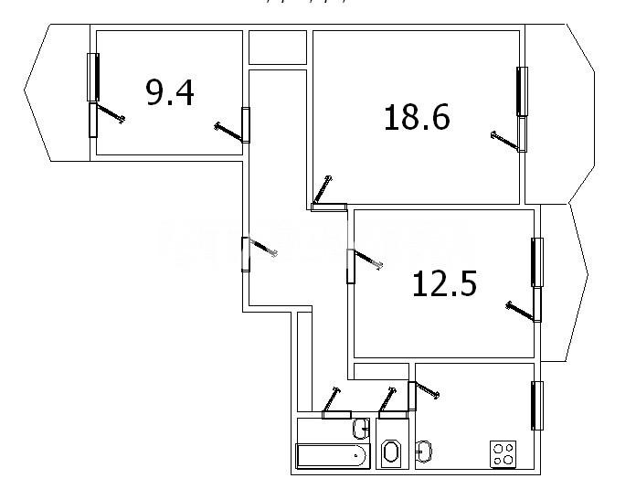 Продается 3-комнатная Квартира на ул. Днепропетр. Дор. (Семена Палия) — 41 500 у.е. (фото №6)