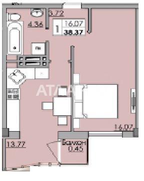 Продается 1-комнатная Квартира на ул. Ойстраха Давида (Затонского) — 21 366 у.е. (фото №2)