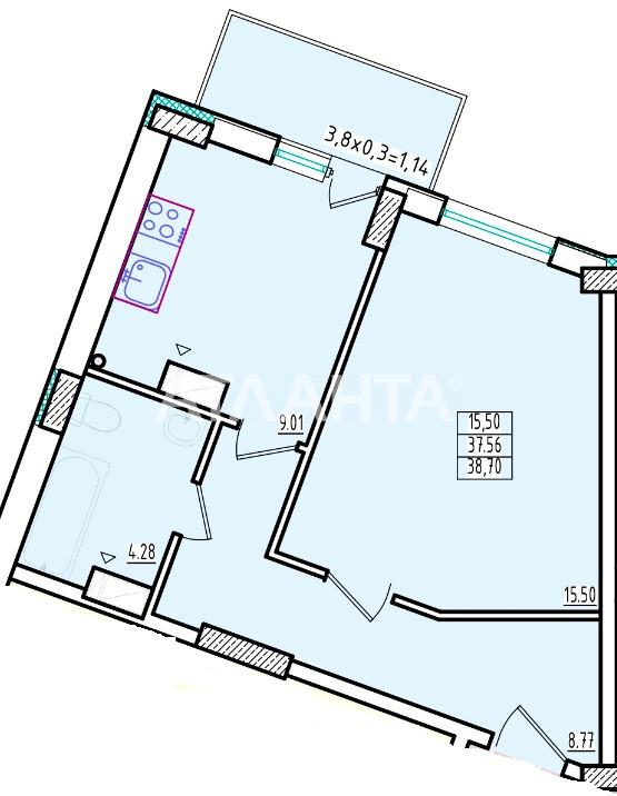 Продается 1-комнатная Квартира на ул. Люстдорфская Дор. (Черноморская Дор.) — 27 860 у.е. (фото №2)