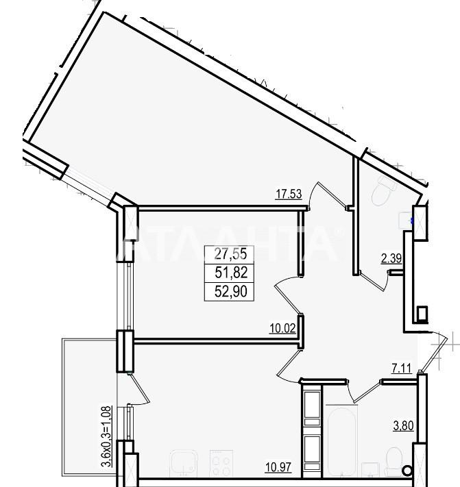 Продается 2-комнатная Квартира на ул. Люстдорфская Дор. (Черноморская Дор.) — 36 240 у.е. (фото №3)