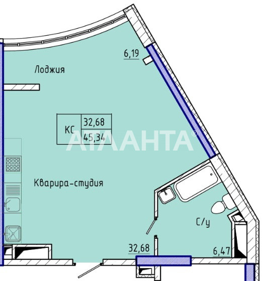 Продается 1-комнатная Квартира на ул. Каманина — 39 900 у.е. (фото №2)