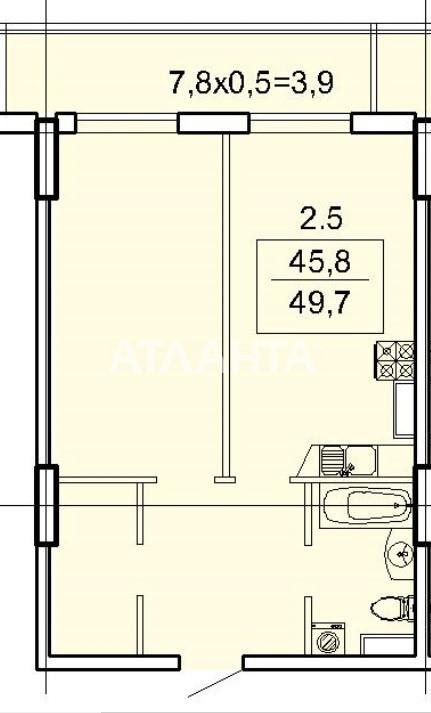 Продается 1-комнатная Квартира на ул. Фонтанская Дор. (Перекопской Дивизии) — 50 310 у.е. (фото №2)