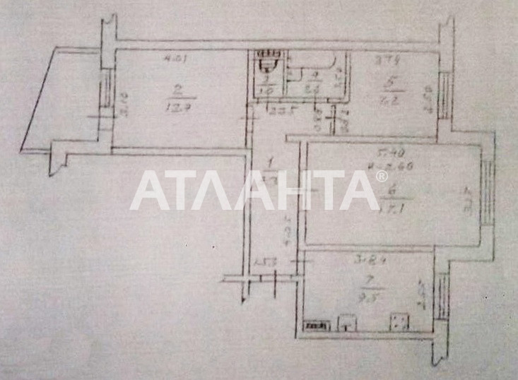 Продается 3-комнатная Квартира на ул. Заболотного Ак. — 38 000 у.е. (фото №10)