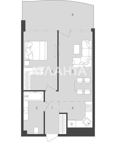 Продается 1-комнатная Квартира на ул. Золотой Берег — 53 890 у.е. (фото №4)