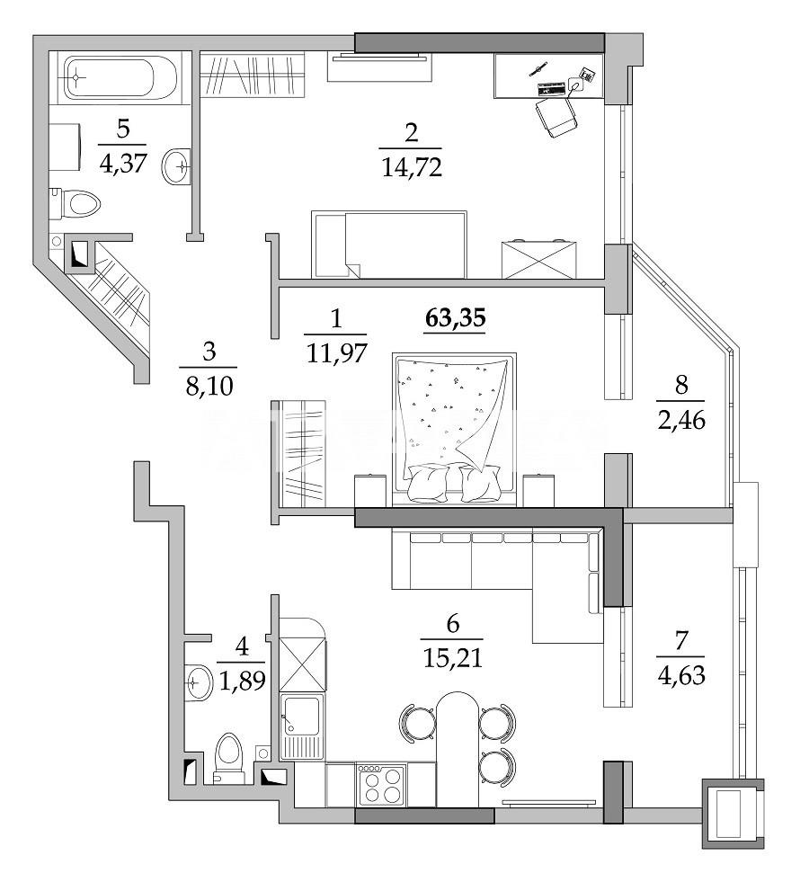 Продается 2-комнатная Квартира на ул. Вильямса Ак. — 41 180 у.е.