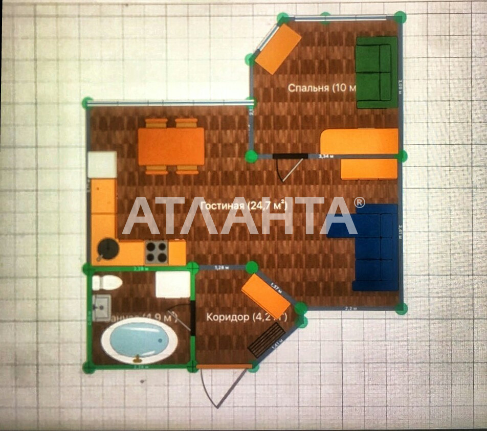 Продается 1-комнатная Квартира на ул. Радужный М-Н — 38 000 у.е. (фото №10)