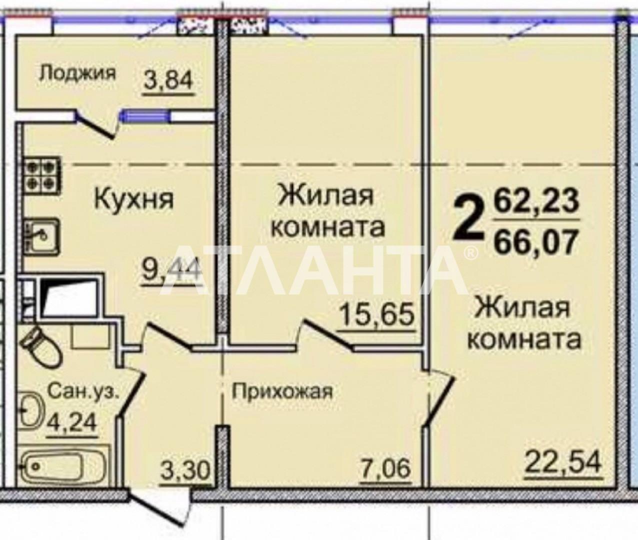 Продается 2-комнатная Квартира на ул. Жемчужная — 40 000 у.е. (фото №2)