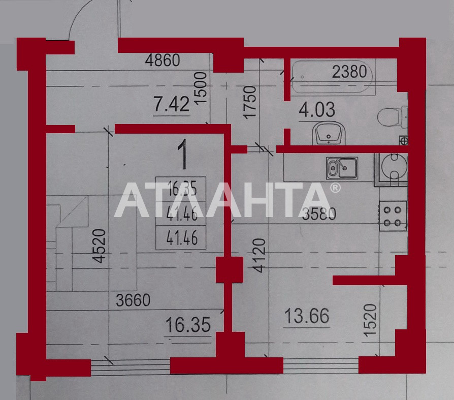 Продается 1-комнатная Квартира на ул. Гранитная — 28 000 у.е. (фото №4)