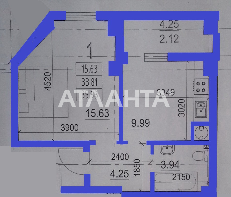 Продается 1-комнатная Квартира на ул. Гранитная — 21 600 у.е. (фото №4)