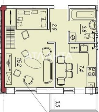 Продается 1-комнатная Квартира на ул. Люстдорфская Дор. (Черноморская Дор.) — 38 500 у.е. (фото №3)