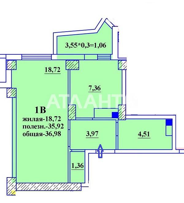 Продается 1-комнатная Квартира на ул. Гранитная — 24 050 у.е. (фото №2)