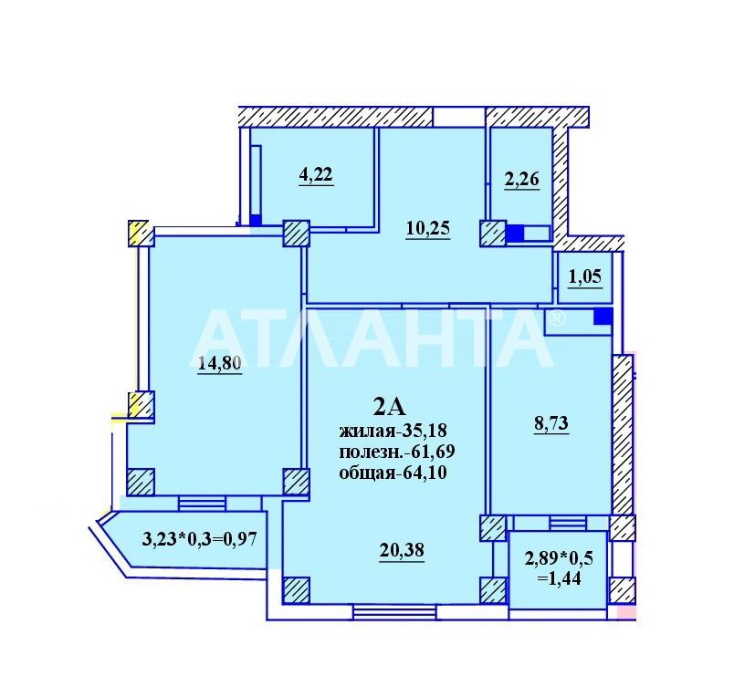 Продается 2-комнатная Квартира на ул. Гранитная — 32 100 у.е. (фото №2)