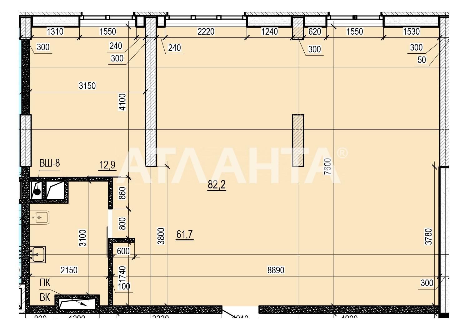 Продается 2-комнатная Квартира на ул. Французский Бул. (Пролетарский Бул.) — 82 500 у.е. (фото №3)
