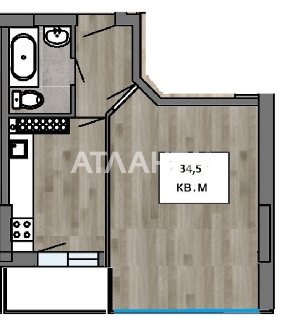 Продается 1-комнатная Квартира на ул. Балковская (Фрунзе) — 24 150 у.е. (фото №4)