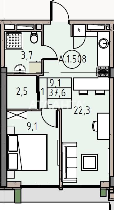Продается 1-комнатная Квартира на ул. Донского Дмитрия — 36 850 у.е.