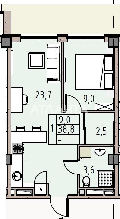 Продается 1-комнатная Квартира на ул. Донского Дмитрия — 39 860 у.е.