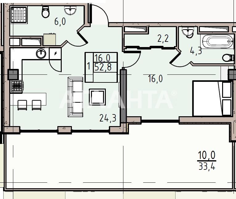 Продается 1-комнатная Квартира на ул. Донского Дмитрия — 74 520 у.е.