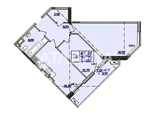 Продается 2-комнатная Квартира на ул. Клубничный Пер. — 57 000 у.е. (фото №2)